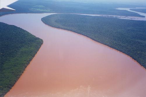 Rivière, Paraná, Brésil, Chutes d'Iguaçu, vues du Brésil